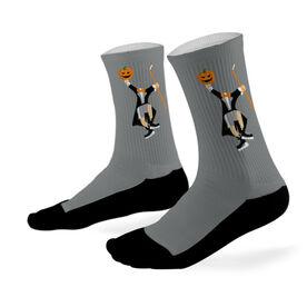 Hockey Printed Mid Calf Socks Headless Hockey