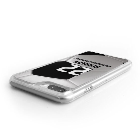 Soccer iPhone® Case - Personalized Big Number with Soccer Ball