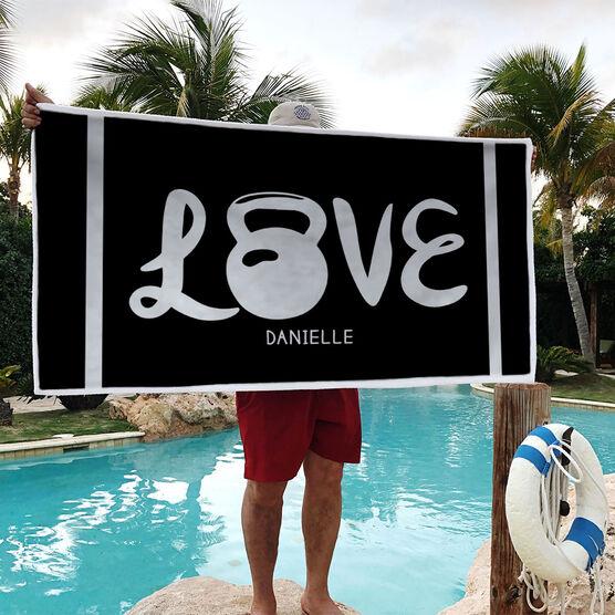 Cross Training Premium Beach Towel - Love Kettlebells