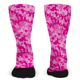 Customized Printed Mid Calf Team Socks Digital Camo Team
