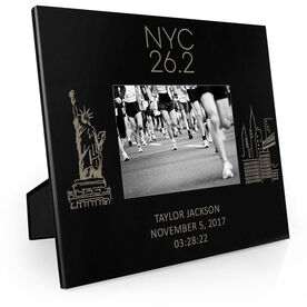 Running Engraved Picture Frame - New York City Sketch