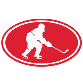 Hockey Boy Silhouette Vinyl Decal