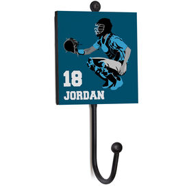 Softball Medal Hook - Catcher With Name And Number