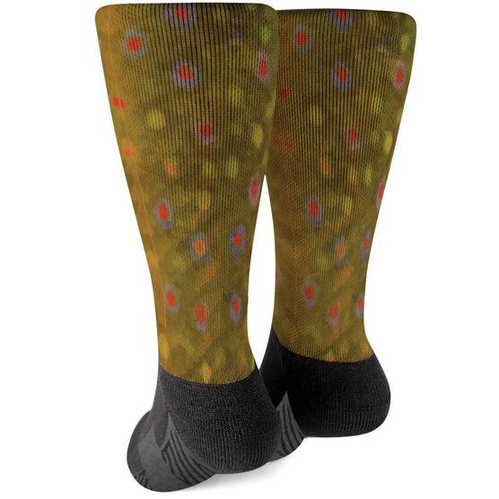 Fly Fishing Printed Mid-Calf Socks - Brook Trout