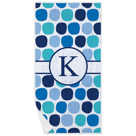 Swimming Premium Beach Towel - Personalized Colorful Polka Dots