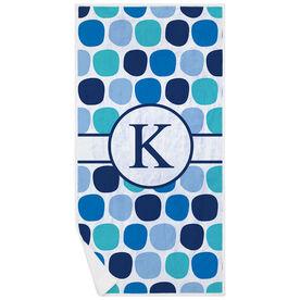 Swimming Premium Beach Towel - Personalized Colorful Polka Dots