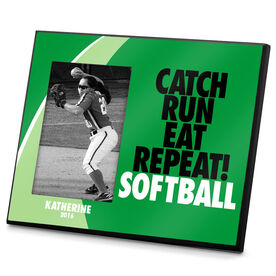 Softball Photo Frame Catch Run Eat Repeat Softball