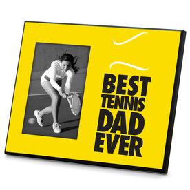 Tennis Wood Frame Best Dad Ever