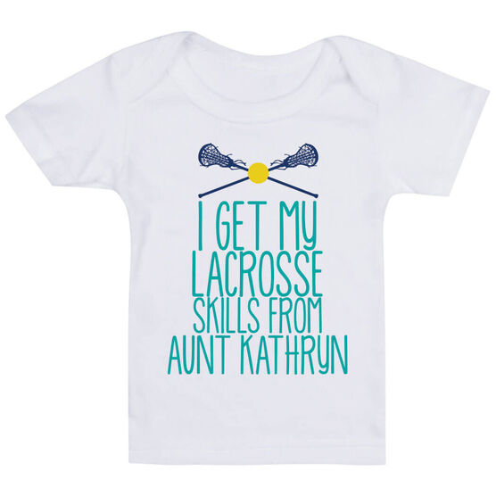 Girls Lacrosse Baby T-Shirt - I Get My Skills From