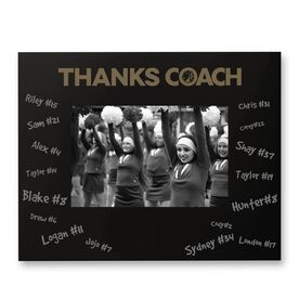 Cheerleading Engraved Frame - Thanks Coach