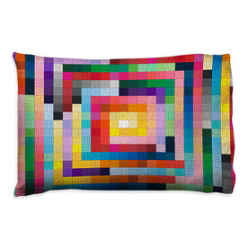 Running Pillowcase - Squares Colorful