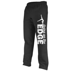 Gymnastics Fleece Sweatpants Gymnastics Living On The Edge