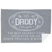 Personalized Premium Blanket - This Daddy Belongs To