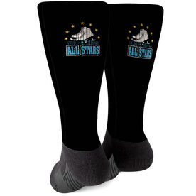Figure Skating Printed Mid-Calf Socks - Your Logo