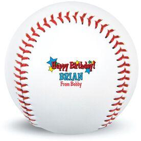 HAPPY BIRTHDAY Star Custom Baseball