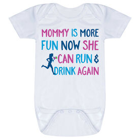 Running Baby One-Piece - Mommy Is More Fun Now