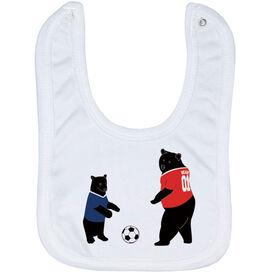 Soccer Baby Bib - Bears