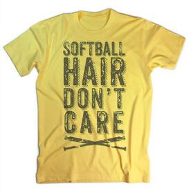Vintage Softball T-Shirt - Softball Hair Don't Care