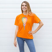 Girls Lacrosse T-Shirt Short Sleeve Lacrosse Stick Heart