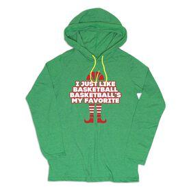 Men's Basketball Lightweight Hoodie - I Just Like Basketball