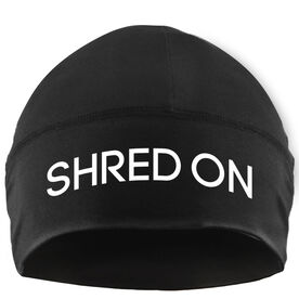 Snowboarding Beanie Performance Hat - Shred On