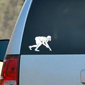 Vinyl Car Decal Football Linebacker Silhouette