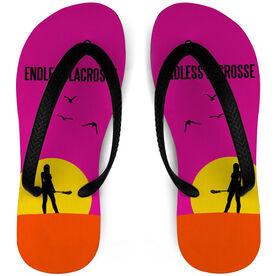 Girls Lacrosse Flip Flops Endless Summer