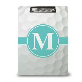 Golf Custom Clipboard Golf Dimples with Monogram