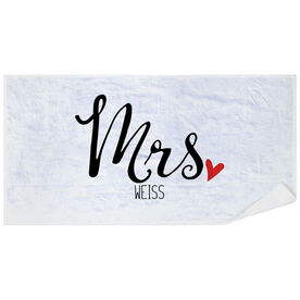 Personalized Premium Beach Towel - Mrs.