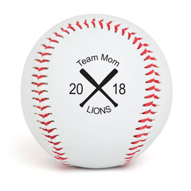 Custom Baseball Crossed Bats Team Mom