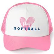 Softball Trucker Hat Play Softball