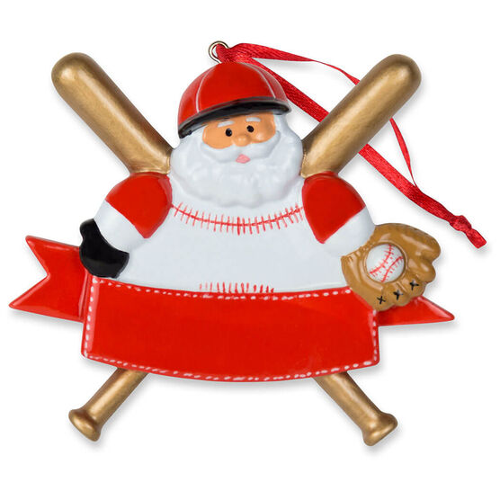 Baseball Ornament - Baseball Santa