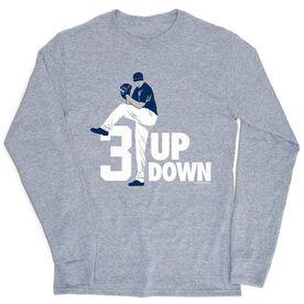 Baseball Tshirt Long Sleeve - 3 Up 3 Down