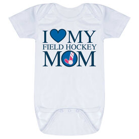Field Hockey Baby One-Piece - I Love My Field Hockey Mom