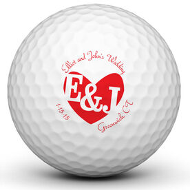 Wedding Monogram Golf Ball