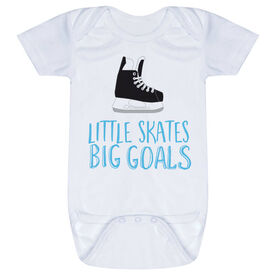 Hockey Baby One-Piece - Little Skates Big Goals