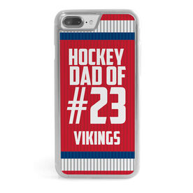 Hockey iPhone® Case - Personalized Dad of Player Number