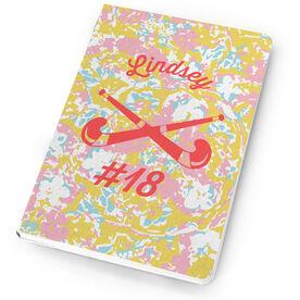 Field Hockey Notebook Flower Power