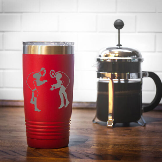 Wrestling 20 oz. Double Insulated Tumbler - Silhouettes