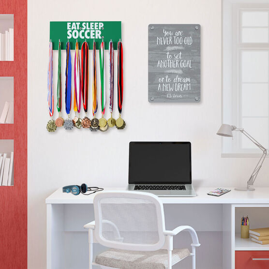 Soccer Hooked on Medals Hanger - Eat Sleep Soccer