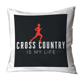 Cross Country Throw Pillow My Life (Male)