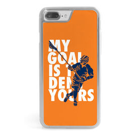 Guys Lacrosse iPhone® Case - My Goal Is To Deny Yours Defenseman