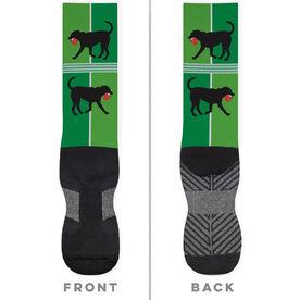 Ping Pong Printed Mid-Calf Socks - Ping Pong Dog