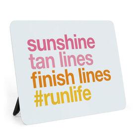 Running Desk Art - Sunshine Tan Lines Finish Lines