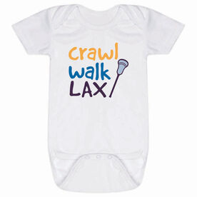 Lacrosse Baby One-Piece - Crawl Walk Lacrosse