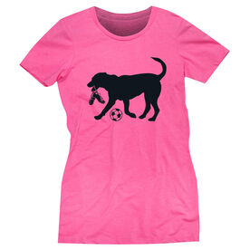 Soccer Women's Everyday Tee - Spot The Soccer Dog