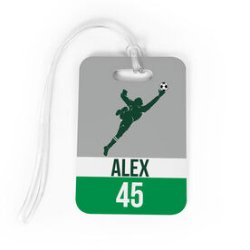Soccer Bag/Luggage Tag - Personalized Soccer Goalie