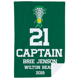 Girls Lacrosse Premium Blanket - Personalized Captain
