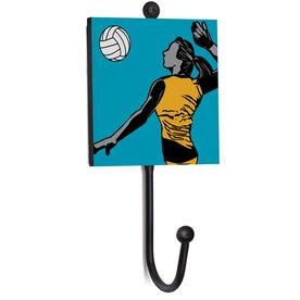 Volleyball Medal Hook - Closeup Player