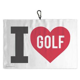 Golf Bag Towel I Love Golf